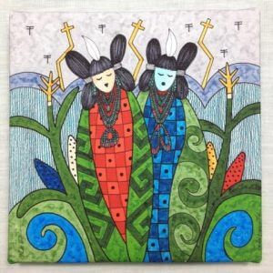 Corn Maidens painting; symbolizes Hopi wisdom and culture