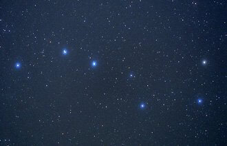 Big Dipper photo. Illustrates star viewing.
