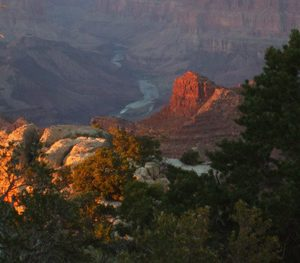 Grand Canyon sunrise; symbolizes dawn ceremony and Grand Canyon independent travel journey