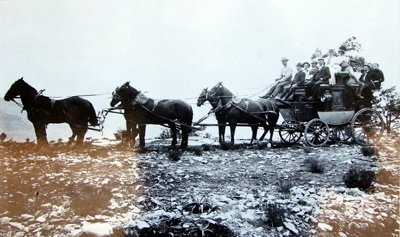 Grand Canyon stage coach. Arizona had territorial status from 1868- 1912.