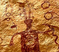 rock art of shaman working with heart center and energies signifies Aligning With Greater Self Shamanic Skills Development Retreat
