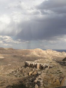 fall showers, Second Mesa by Sandra Cosentino