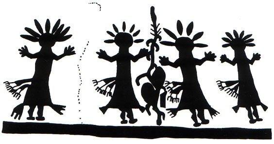 Navajo Yei rock art Dinetah