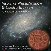 CD cover to Medicine Whell Wisdom & Guided Journeys for Balance & Wisdom