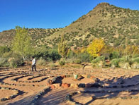Sedona 7-path labyrinth ceremony during Mystic Nature Shamanic Journey Seminar. by Sandra Cosentino