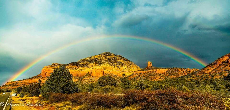Thunder Mountain rainbow, Sedona