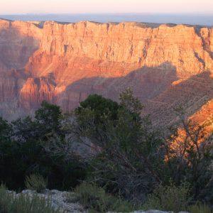 Grand Canyon sunset shadows; symbolizes Grand Canyon Spirit of Place Journey